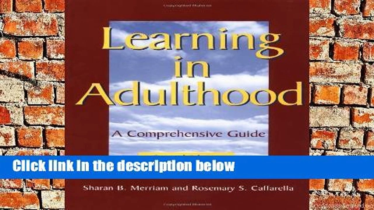 Learning in Adulthood A Comprehensive Guide