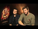 Liam Hemsworth and Josh Hutcherson Hunger Games