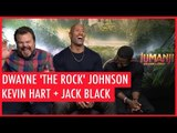Dwayne 'The Rock' Johnson shows off his pecs to Kevin Hart and Jack Black  in Hilarious interview!