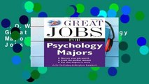 D.O.W.N.L.O.A.D [P.D.F] Great Jobs for Psychology Majors, 3rd ed. (Great Jobs For! Series)