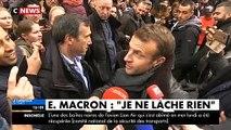 """Regardez Emmanuel Macron qui commente les rumeurs sur sa santé cet après-midi à Honfleur: """"Tout va bien, rassurez-vous"""""""