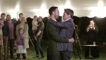 Grooms choreograph epic wedding dance