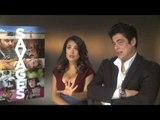 Salma Hayek And Benicio Del Toro -- Savages DVD Interview   Empire Magazine