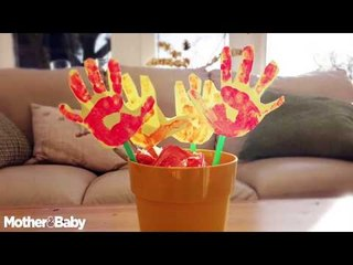 How to make hand flowers | Easy arts and crafts for toddlers and children!