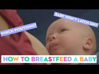 Breastfeeding Position and Latch: A Midwife Shows How To Breastfeed A Newborn Baby