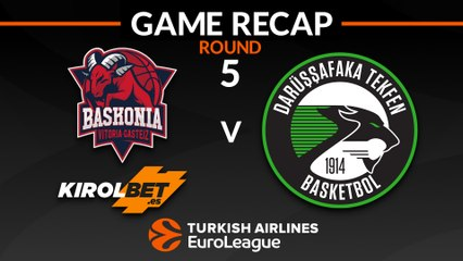 EuroLeague 2018-19 Highlights Regular Season Round 5 video: Baskonia 82-56 Darussafaka