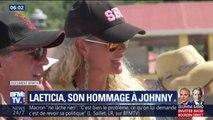 Laeticia Hallyday à Saint Barth pour rendre hommage à Johnny