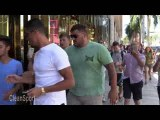 Cristiano Ronaldo Pushes A Young Fan While Shopping On Rodeo Drive In Beverly Hills