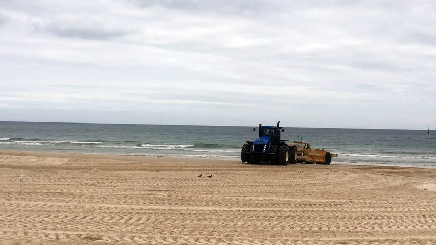 Tractor on Sandy Beach