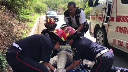 Dos personas heridas fue el saldo de un accidente vial en carretera a Jalapa, km. 57, Sanarate, El Progreso