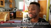 Mamadou Aliou-Diallo, migrant de 18  ans, retrace son parcours dans un livre