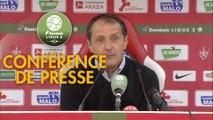 Conférence de presse Stade Brestois 29 - Red Star  FC (1-1) : Jean-Marc FURLAN (BREST) - Faruk HADZIBEGIC (RED) - 2018/2019