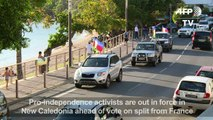 Kanak flags out in Noumea as N. Caledonia preps for referendum