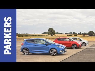 DRAG RACE: Ford Fiesta ST vs Suzuki Swift Sport vs VW Up GTI | Which is fastest over a 1/4 mile?
