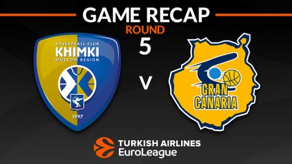 EuroLeague 2018-19 Highlights Regular Season Round 5 video: Khimki 87-72 Gran Canaria