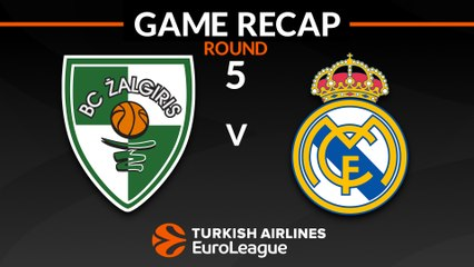 EuroLeague 2018-19 Highlights Regular Season Round 5 video: Zalgiris 79-90 Madrid