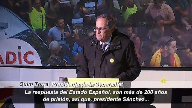 """Torra anuncia en Lledoners que no votará """"nunca"""" los Presupuestos: """"Cataluña retira su apoyo a Sánchez"""""""