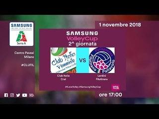 Club italia - Filottrano   Speciale   2^ Giornata   Samsung Volley Cup 2018/19