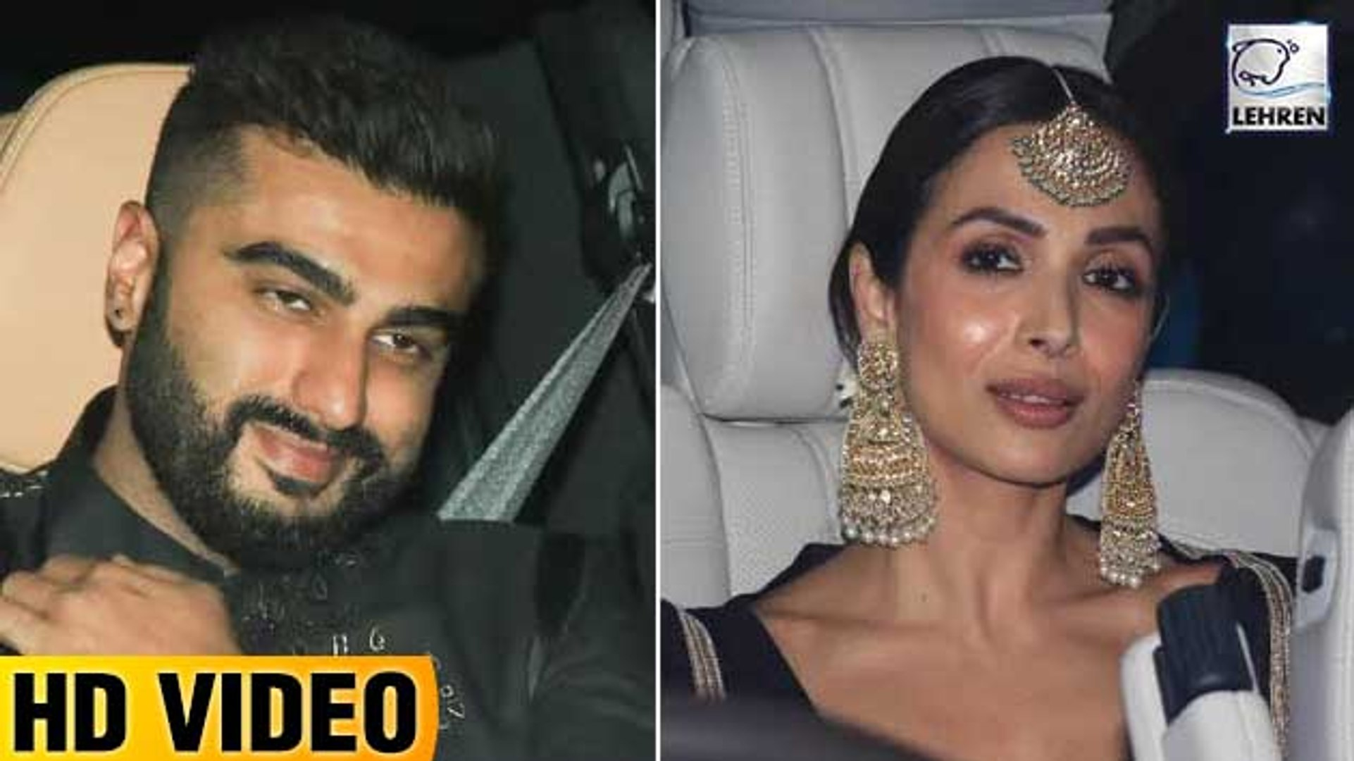 Arjun Kapoor & Malaika Arora Twinning In Black At Sandeep Khosla-Abu Jani's Diwali Party