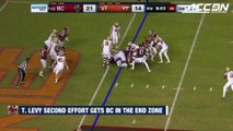 Boston College RB Travis Levy Uses Huge Second Effort For TD vs. Virginia Tech