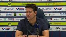 Conférence de presse Fabien Mercadal après SMCaen / Stade Rennais