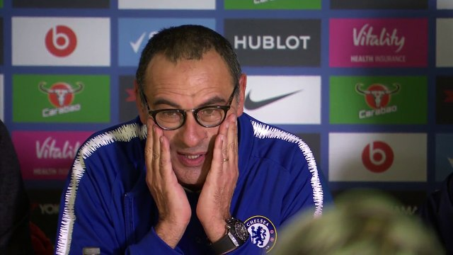 Ambient: Sarri assesses Chelsea title hopes as they look to catch Manchester City