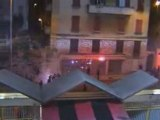 Fight hooligans Nice-PSG