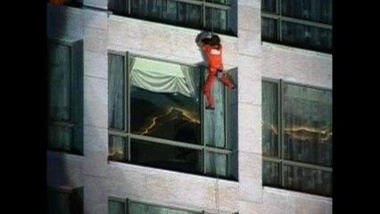 Spiderman Climbs Beirut Hotel