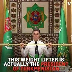 Turkmenistan Leader's Latest 'Superhuman' Achievement is Lifting a Gold Dumbbell
