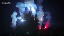 Astonishing Springhead Park bonfire in Leeds marks Guy Fawkes Night