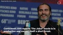 'The Joker' Smokes A Cig On Set