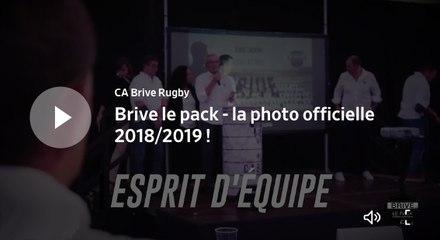 Brive le pack - la photo officielle 2018/2019 !