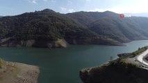Yuvacık Barajı'nda Su Seviyesi Yüzde 25'e Düştü...suyu Çekilen Baraj Havadan Görüntülendi