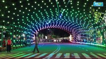Christmas Street Light Musical Tunnel Launch at Tiendecitas