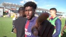 La joie et les réactions après la victoire à Naples (Youth League)