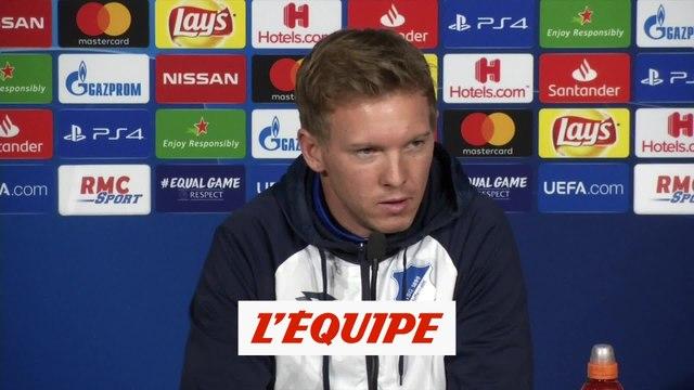 Nagelsmann «Plus défensif à Lyon» - Foot - C1 - Hoffenheim