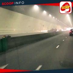 Une voiture en feu dans le tunnel de la Croix-Rousse