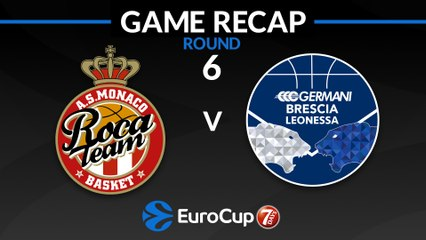 7Days EuroCup Highlights Regular Season, Round 6: Monaco 80-86 Brescia
