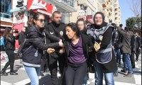 Şanlıurfa'da kadınların yürüyüşüne polisten biber gazlı müdahale