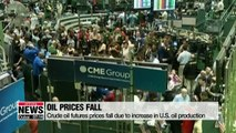 Crude oil futures prices hit 8-month low despite resumption of sanctions on Iran
