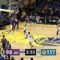 Antonius Cleveland Throws Down Insane Reverse Slam For S.C. Warriors, Astonishing Warriors' Steph Curry