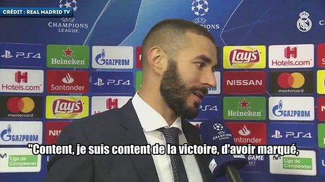 Karim Benzema très content de son doublé