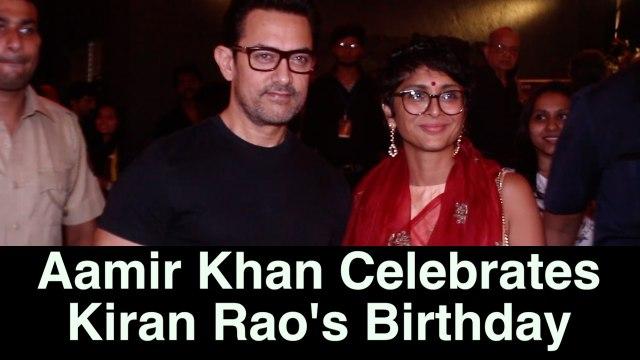 Aamir Khan Celebrates Diwali and Wifey Kiran Rao's Birthday @ Prithvi festival   Thug Of Hindustan