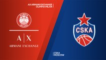 AX Armani Exchange Olimpia Milan - CSKA Moscow Highlights | Turkish Airlines EuroLeague RS Round 6