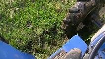 2014年 趣味の稲作 こしひかりの水田 代掻き 今年もトラクターが沈没しそうな深い場所ができている。