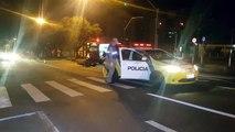 Pendente Homem fica ferido ao colidir moto em viatura da PM