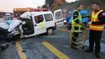 Deux utilitaires sont entrés en collision sur une portion de route en travaux à proximité de Rioz
