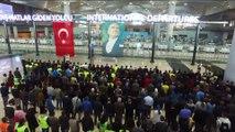 Büyük Önder Atatürk'ü anıyoruz - İstanbul Havalimanı'nda Büyük Önder Atatürk için saygı duruşu - İSTANBUL