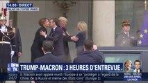 Le couple Trump a quitté l'Elysée après un déjeuner avec Emmanuel et Brigitte Macron
