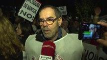 Manifestantes piden que se devuelva el dinero del impuesto hipotecario